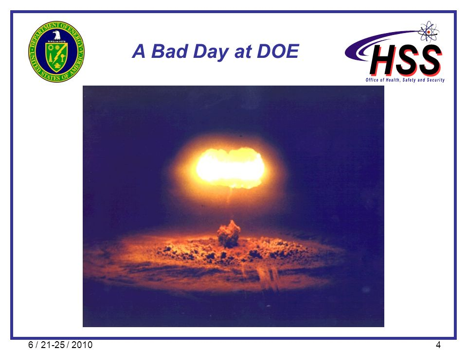 6 / 21-25 / 20104 A Bad Day at DOE