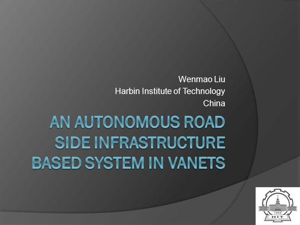 Wenmao Liu Harbin Institute of Technology China