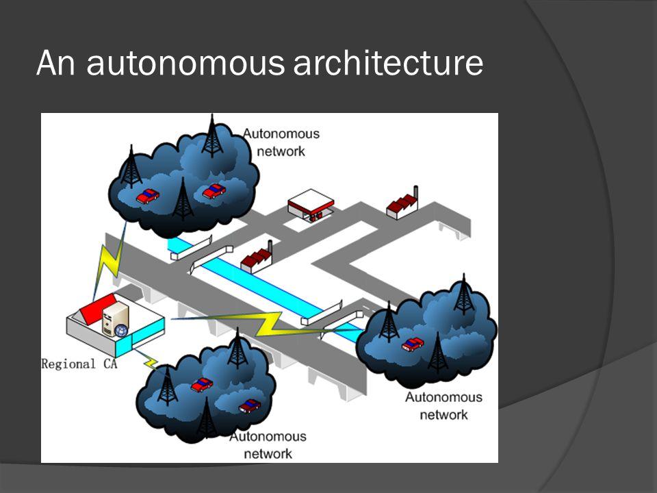 An autonomous architecture