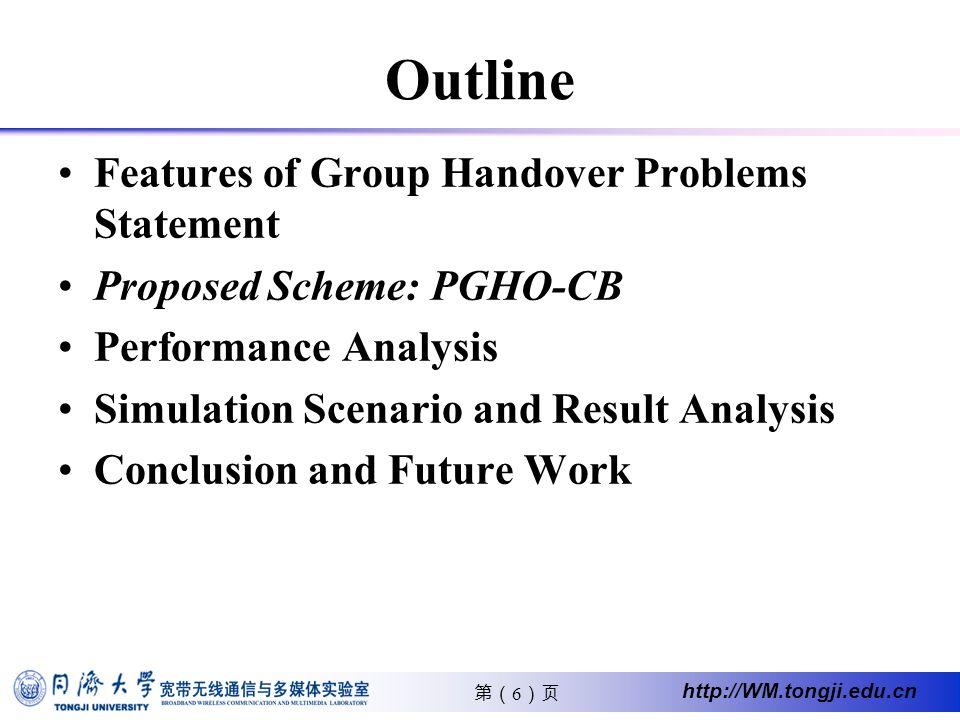 17 http://WM.tongji.edu.cn Proposed Group Handover handover blocking probability (HBP) of rtPS and nrtPS