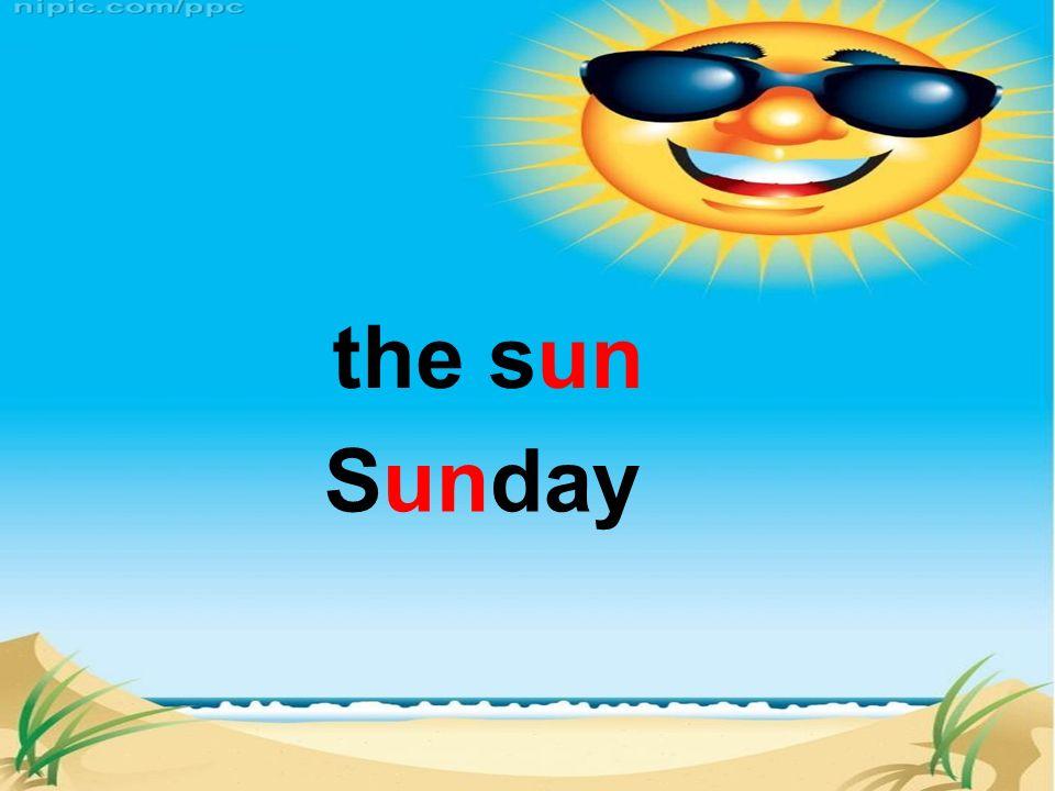the sun Sunday