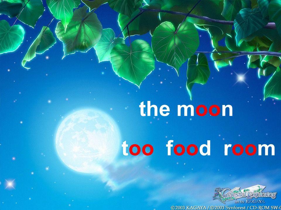the moon too food room
