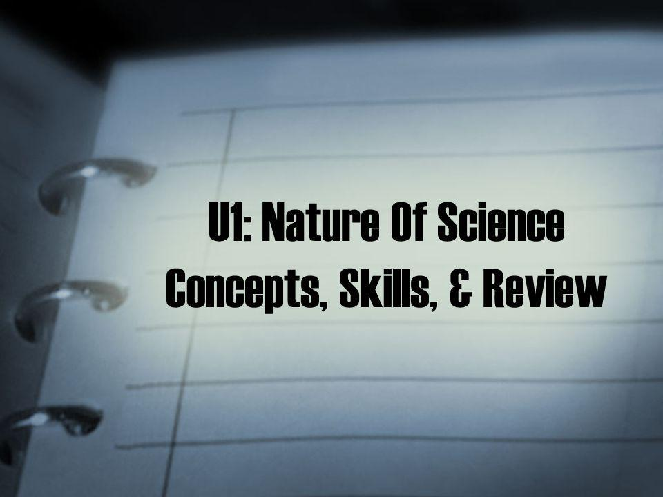 U1: Nature Of Science Concepts, Skills, & Review
