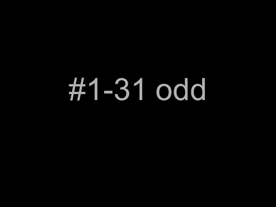 #1-31 odd