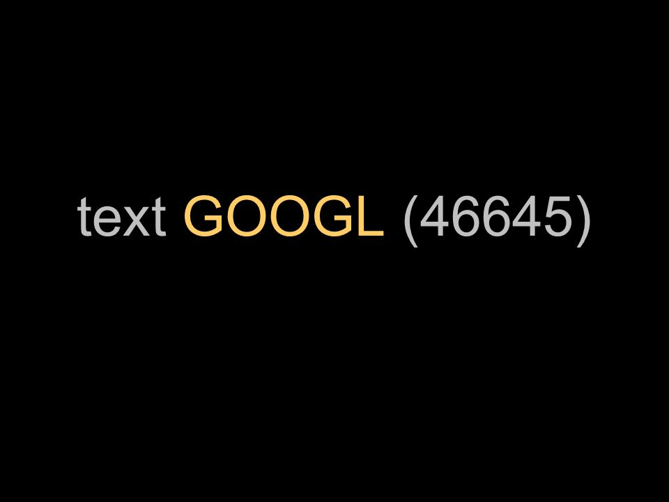 text GOOGL (46645)