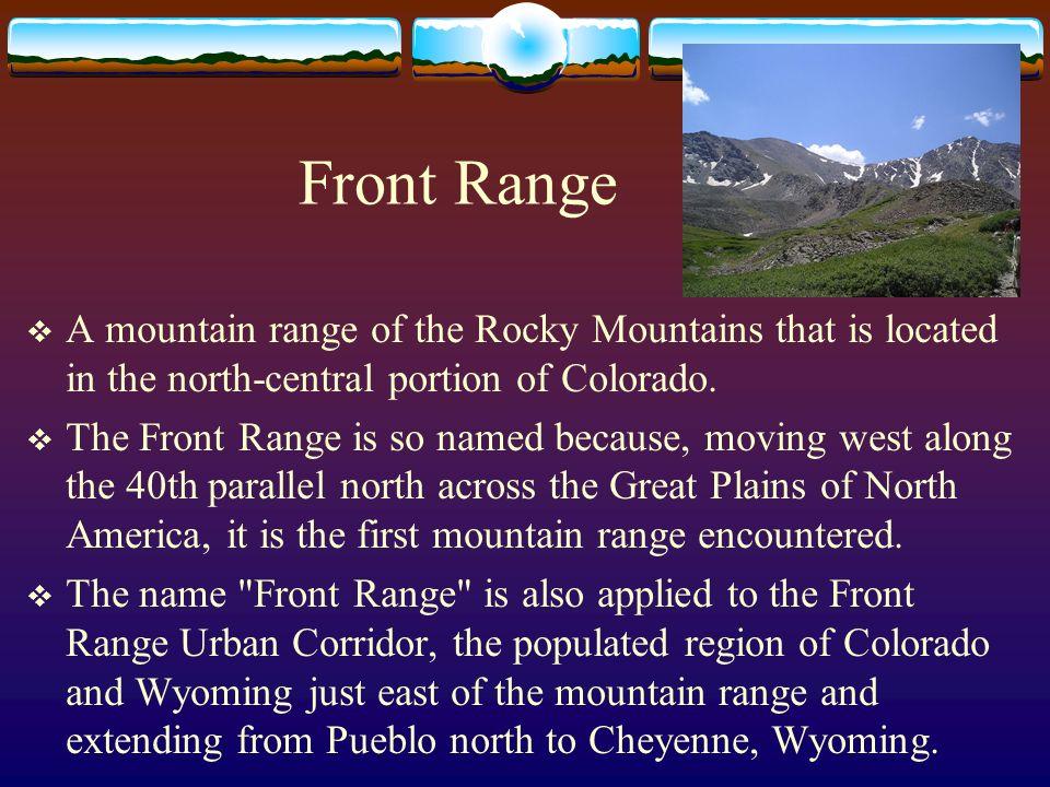 Park Range A mountain range in the Rocky Mountains of northwestern Colorado.
