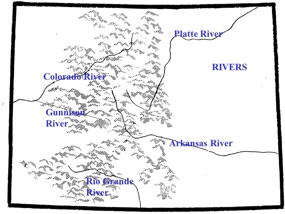 Colorado River a river in the southwestern United States approximately 1,450 mi long draining a part of the arid regions on the western slope of the Rocky Mountains.