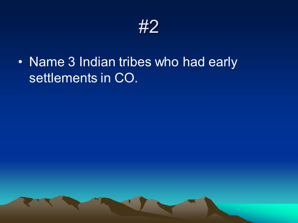 #3 What is Colorados state nickname? Why?