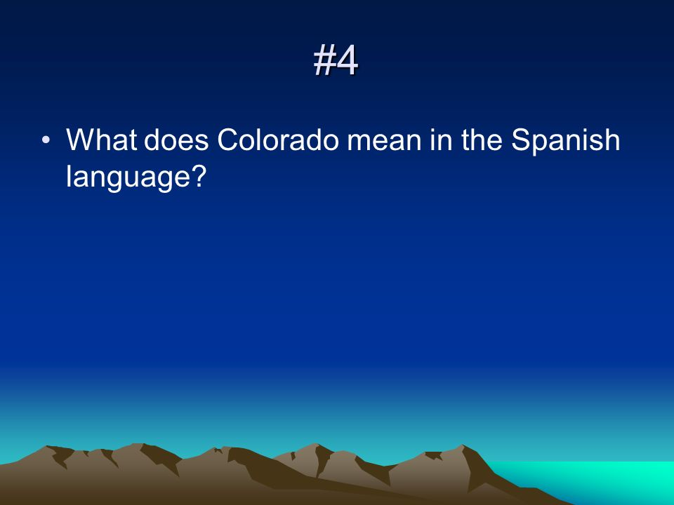 #5 What was the name of the important trading post on The Santa Fe Trail that is located in Colorado?