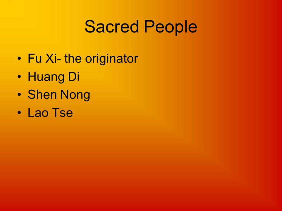 Sacred People Fu Xi- the originator Huang Di Shen Nong Lao Tse