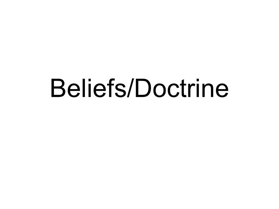 Beliefs/Doctrine
