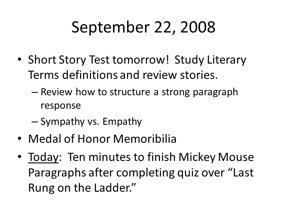 definition of a short story essay