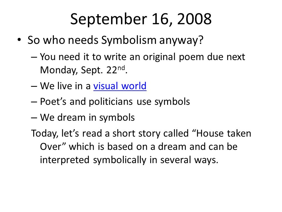 November 6, 2008 Please place independent study novel and Of Mice and Men novel on your desk.