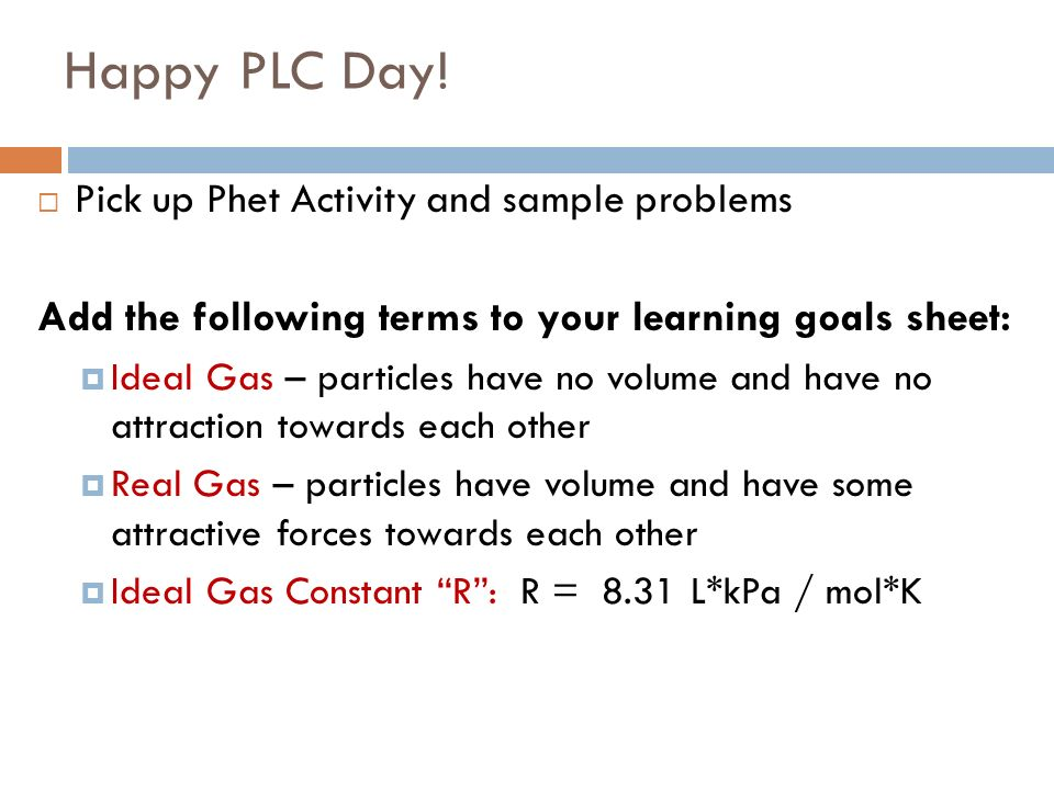 Happy PLC Day.