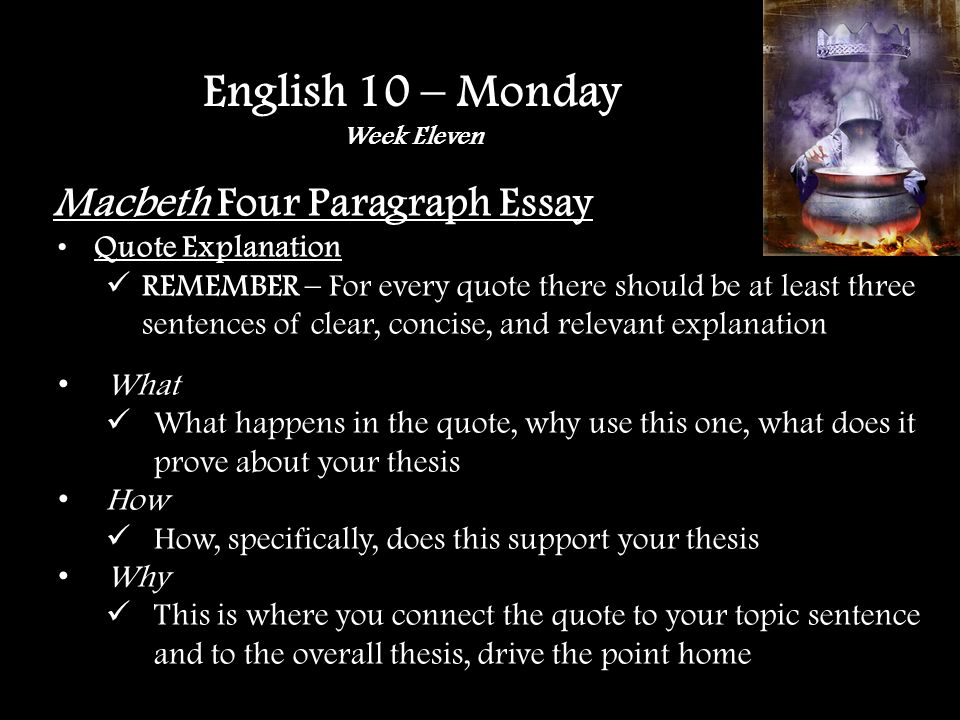 Macbeth Four Paragraph Essay SAS Online Editing – Page 7 Whole Paper: Closer Look Section Look through the Clarity Section Click one of the subsections and then click the Find in the upper right-hand corner o Diction o Pronouns STOP when you get there.