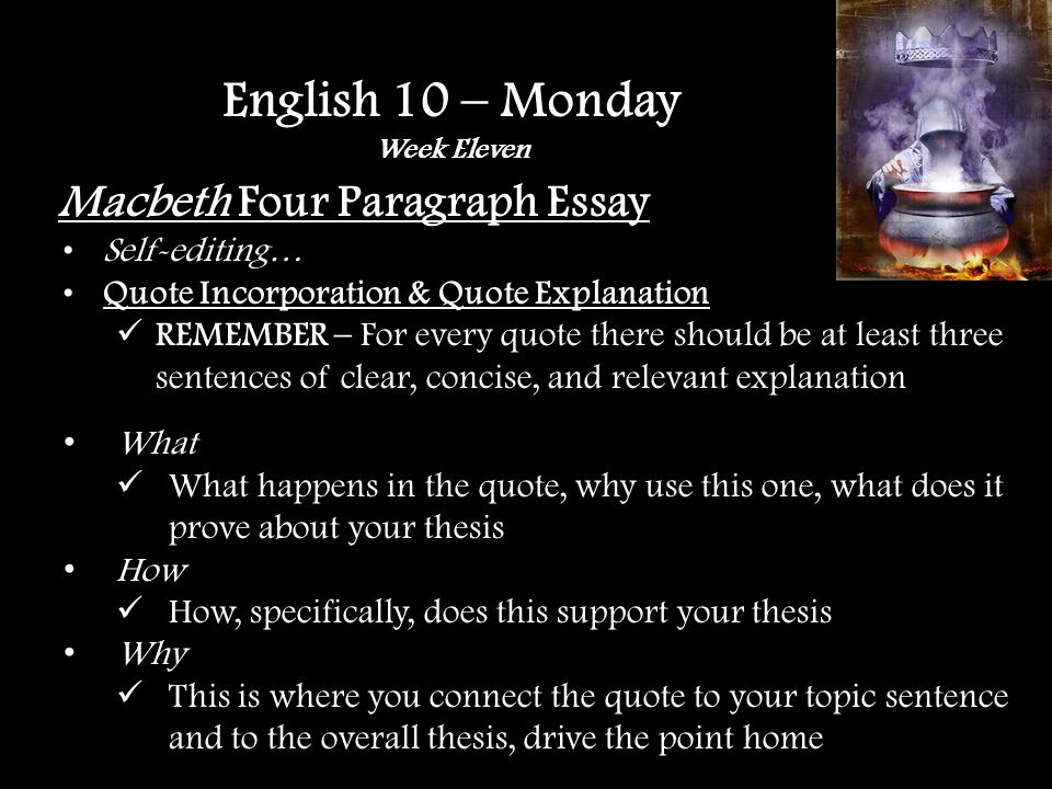 English 10 – Friday Week Eleven Active Reading Guidelines For each chapter, please find the following: One passage you have a question about; form a discussion question for this passage.