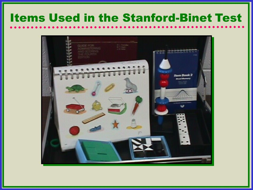 Items Used in the Stanford-Binet Test