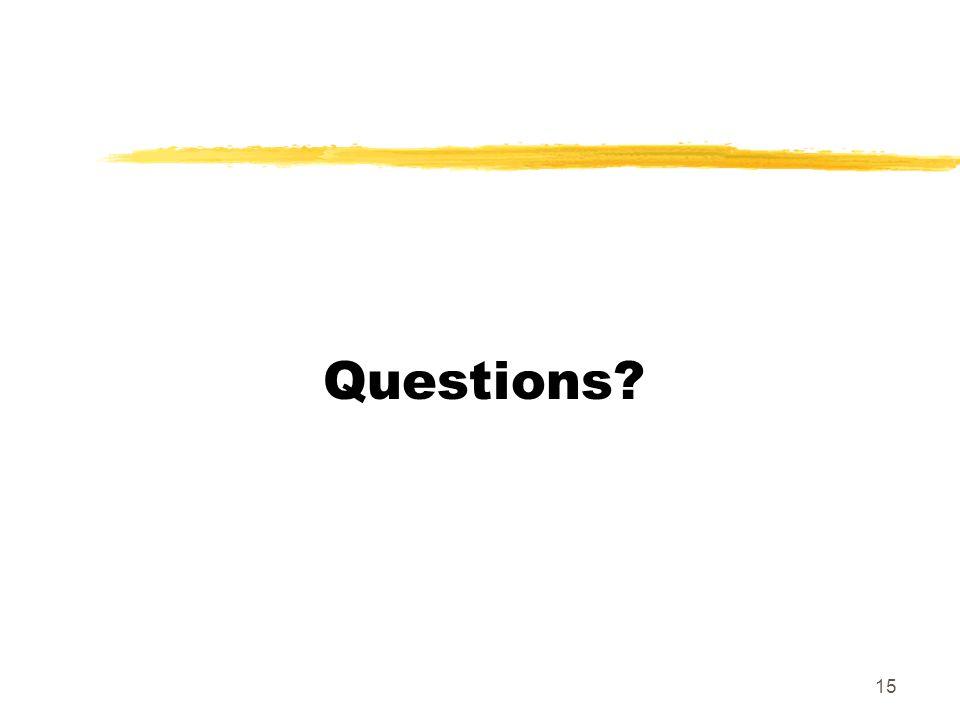 15 Questions