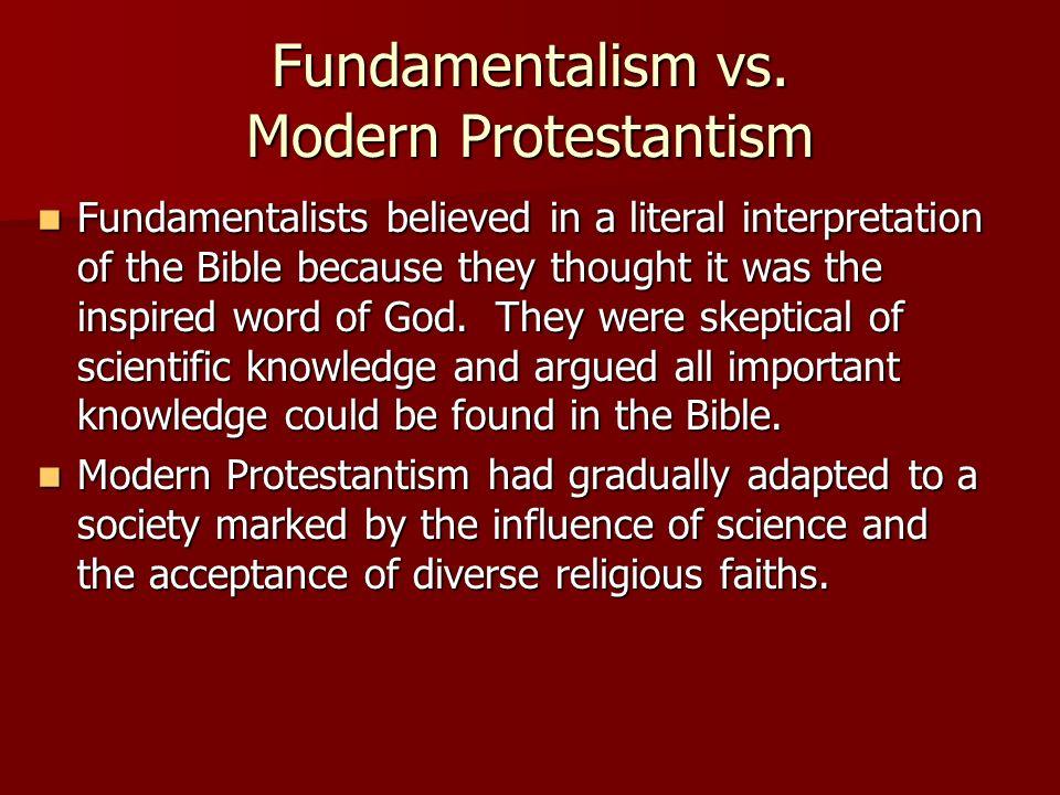 Fundamentalism vs.
