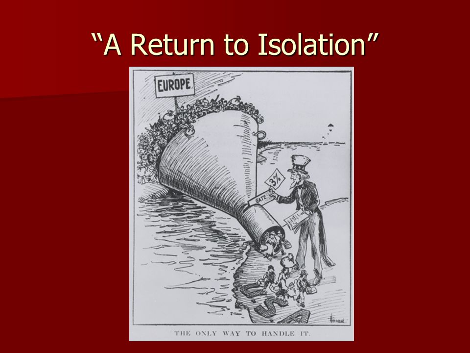 A Return to Isolation