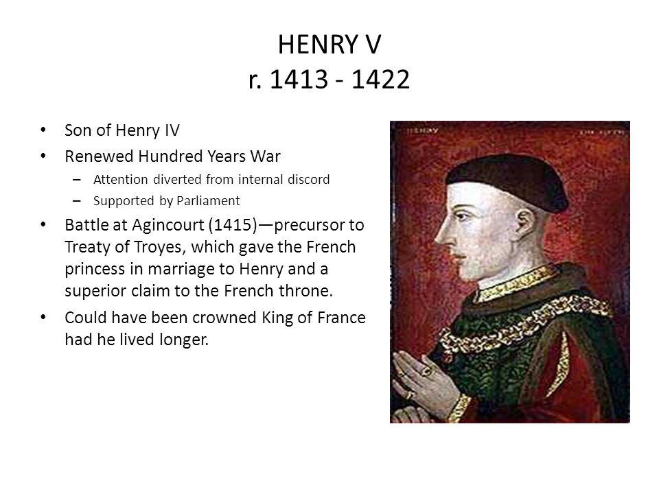 HENRY V r.