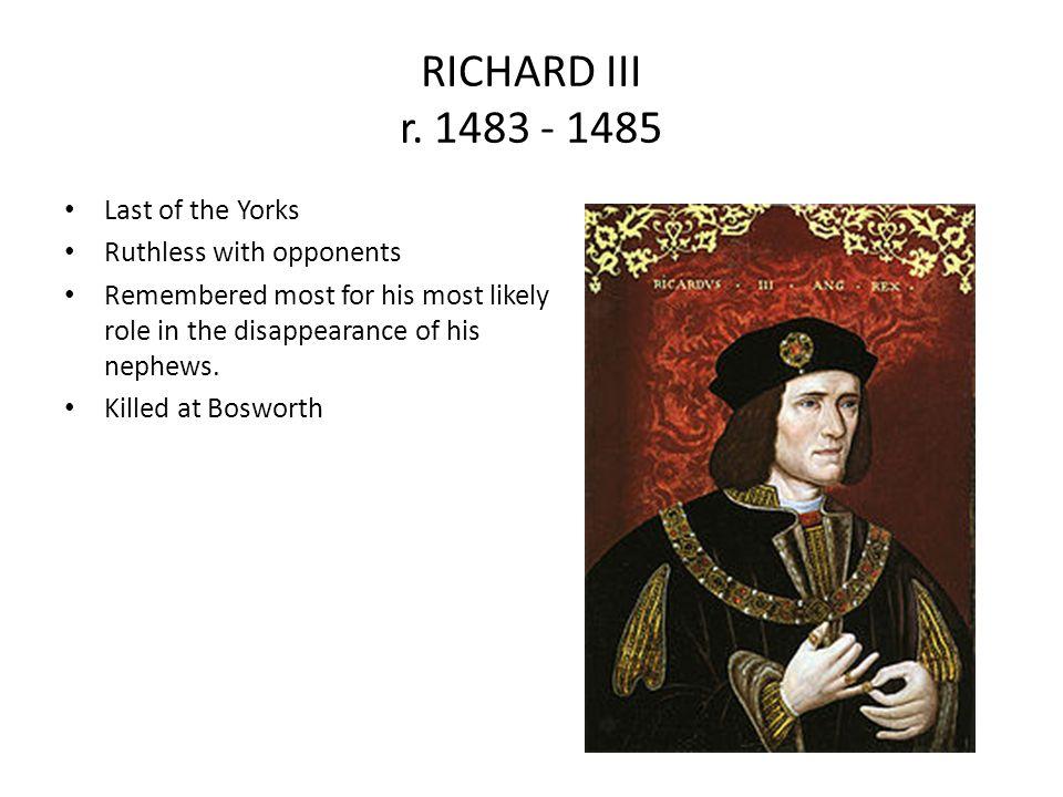RICHARD III r.