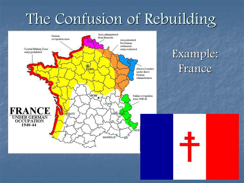 The Confusion of Rebuilding Example: France