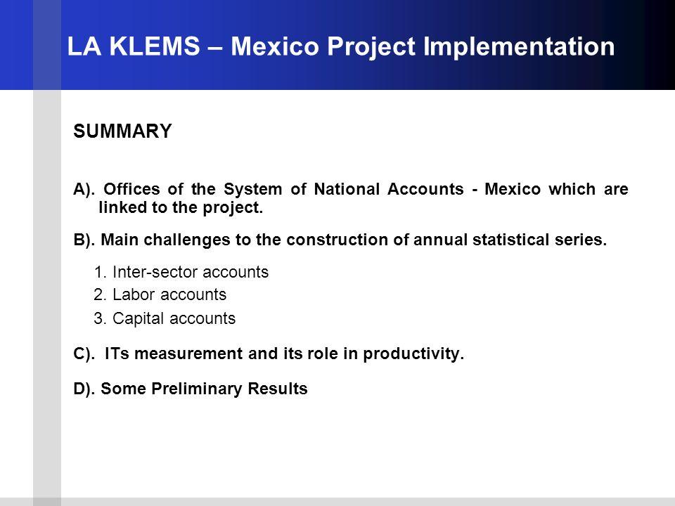 D) Some preliminary results.Labor Account Progress.