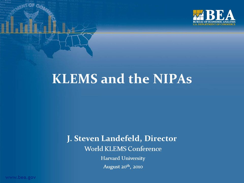 KLEMS and the NIPAs J.