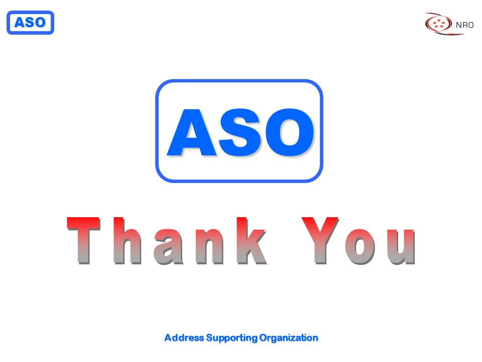 ASO Address Supporting Organization ASO