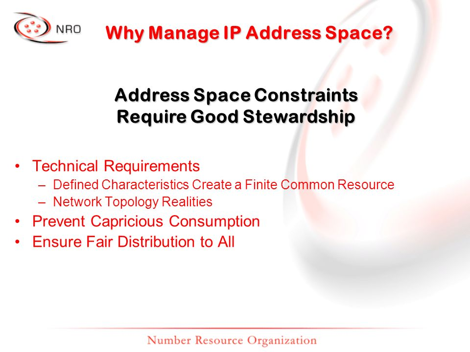 Why Manage IP Address Space.