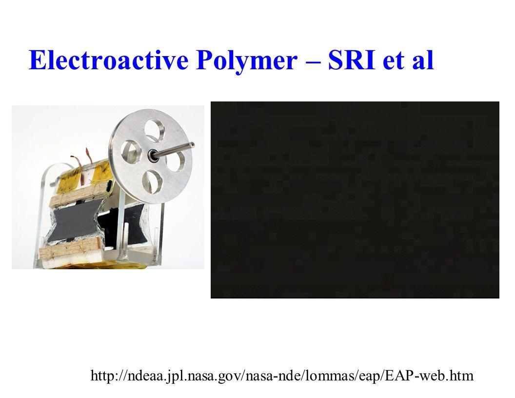 Electroactive Polymer – SRI et al http://ndeaa.jpl.nasa.gov/nasa-nde/lommas/eap/EAP-web.htm