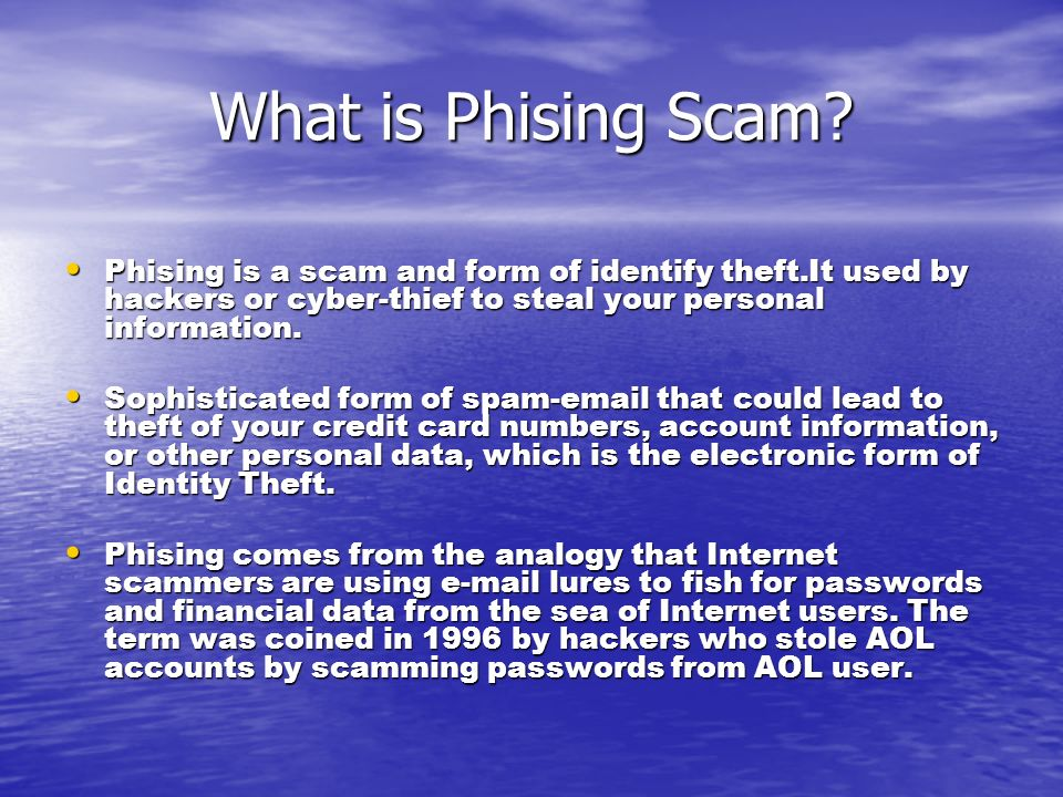 Background Information The original form of hacking was known as phreaking.