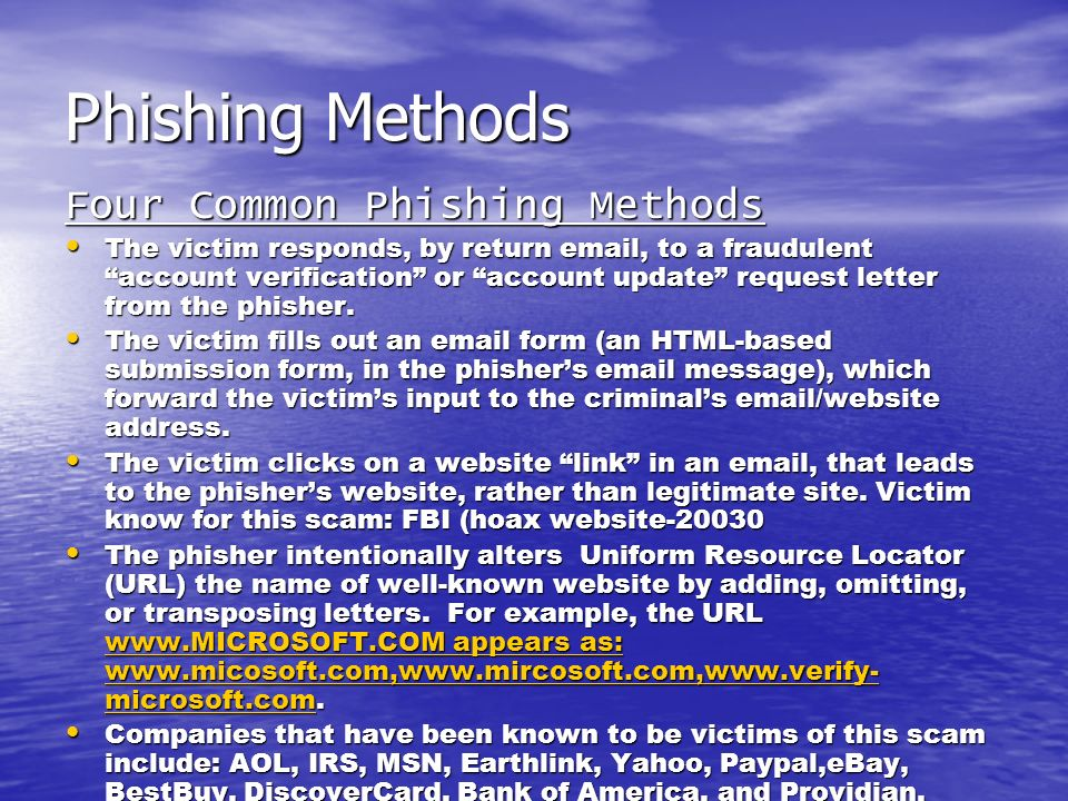 How does Phishing Work.