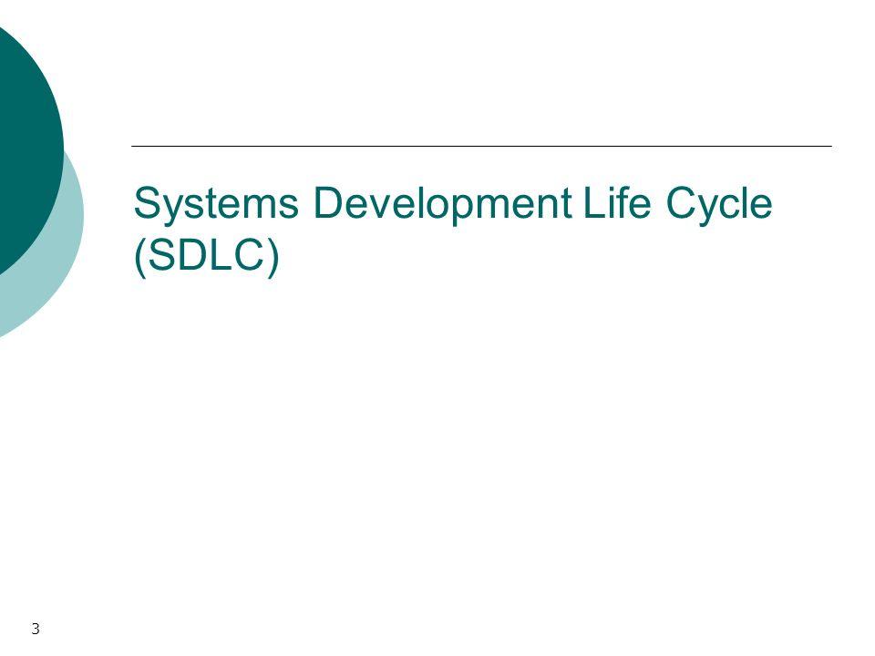3 Systems Development Life Cycle (SDLC)