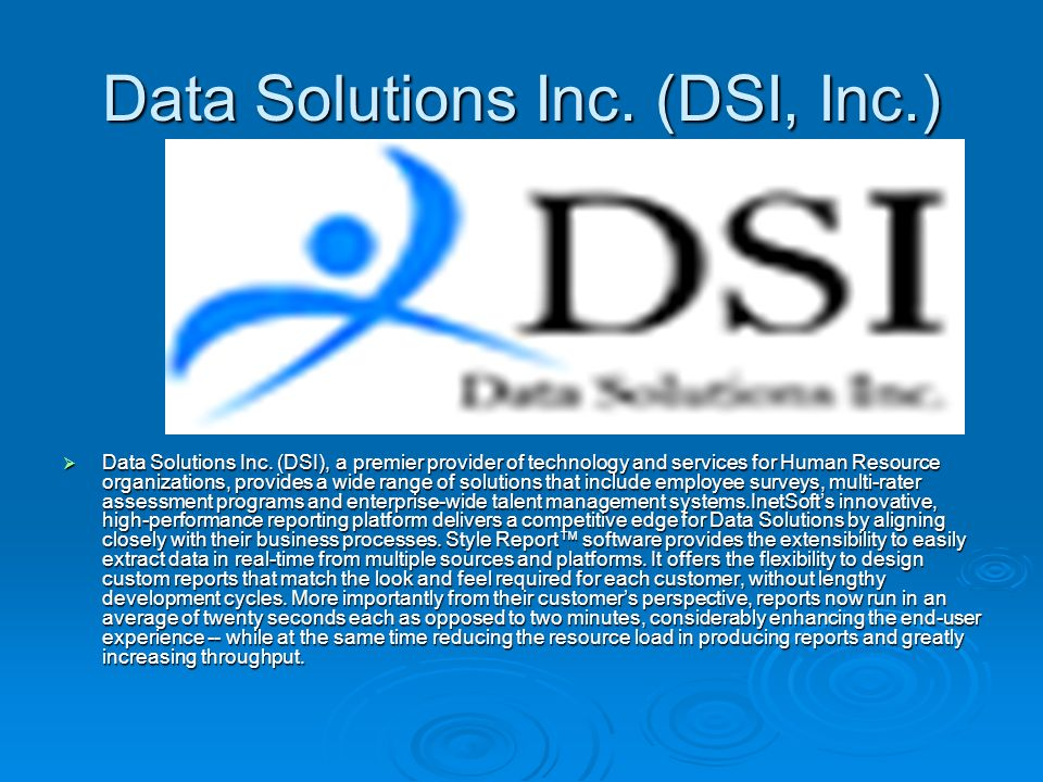 Data Solutions Inc. (DSI, Inc.) Data Solutions Inc.