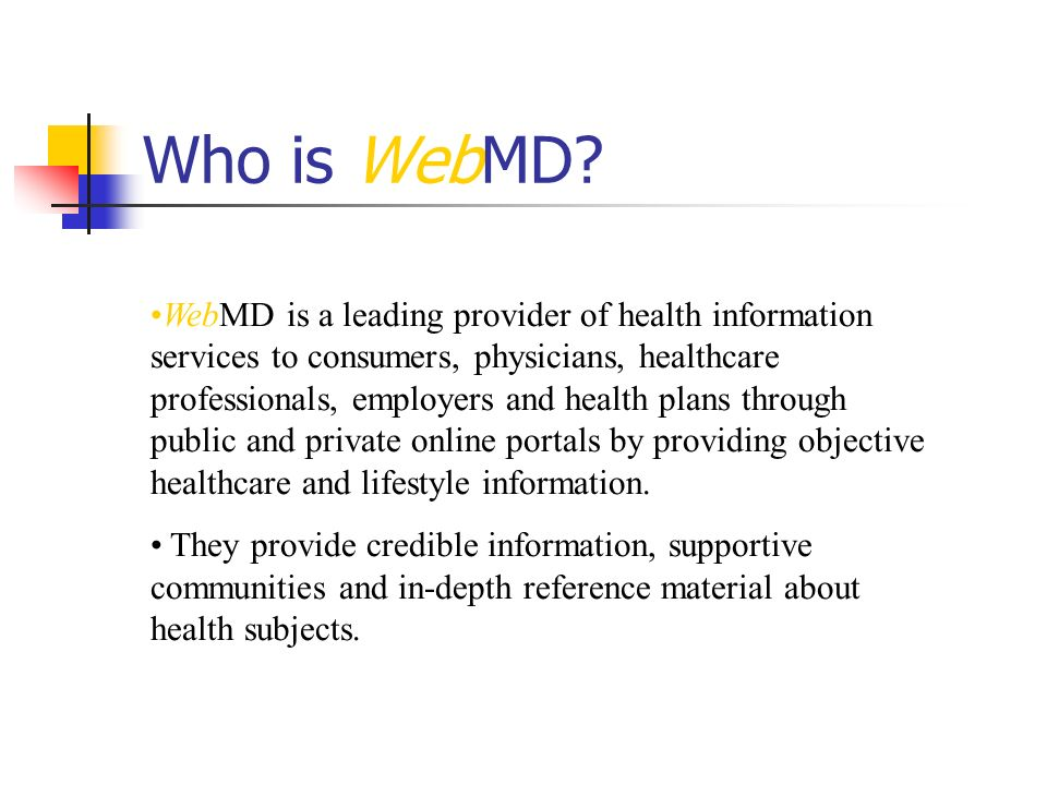 Who is WebMD.
