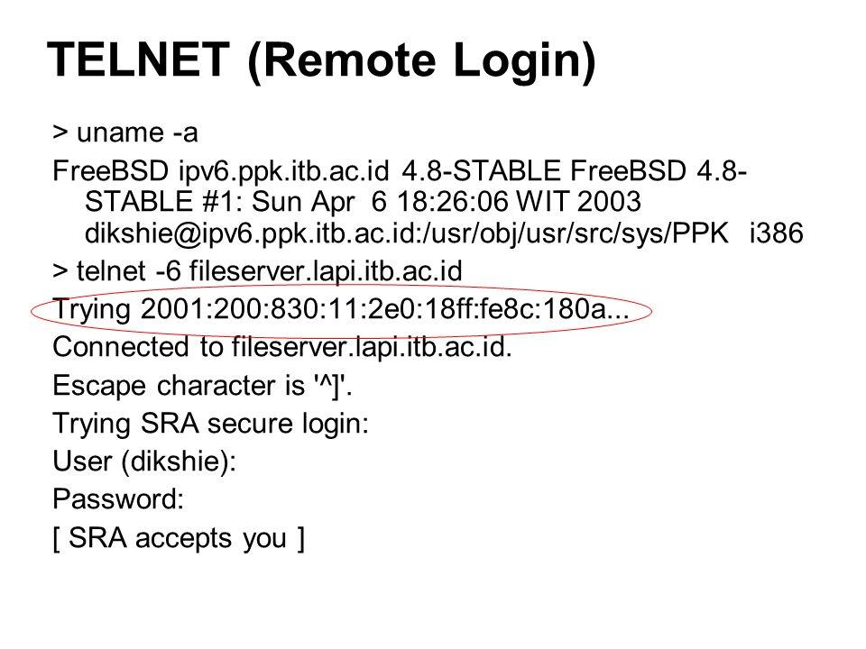 > uname -a FreeBSD ipv6.ppk.itb.ac.id 4.8-STABLE FreeBSD 4.8- STABLE #1: Sun Apr 6 18:26:06 WIT 2003 dikshie@ipv6.ppk.itb.ac.id:/usr/obj/usr/src/sys/P