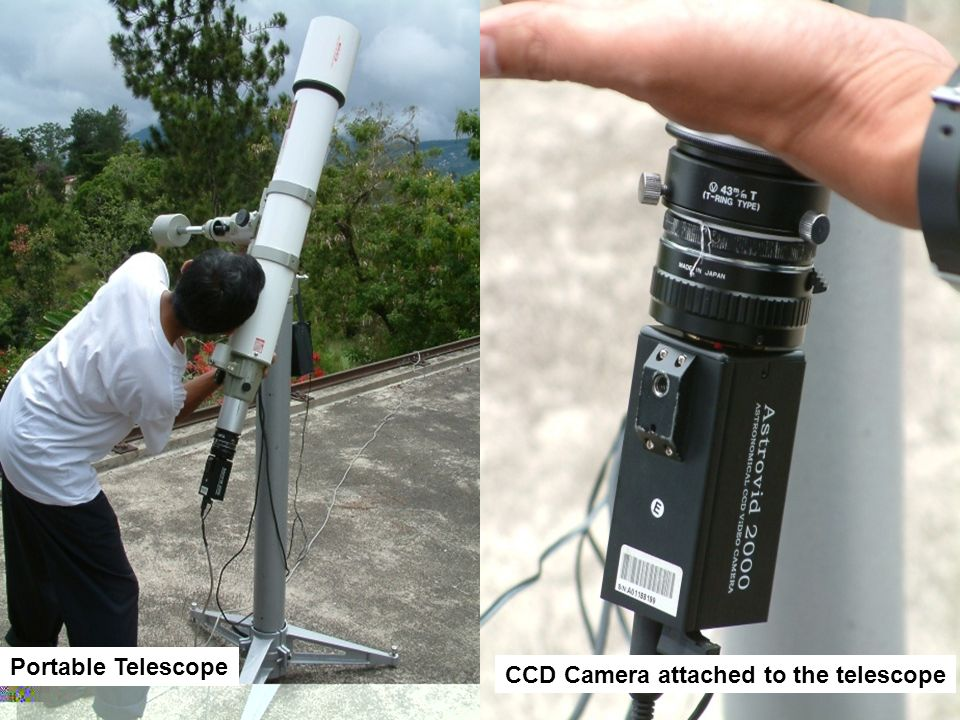 Portable Telescope CCD Camera attached to the telescope