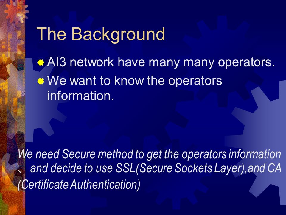The Background AI3 network have many many operators.
