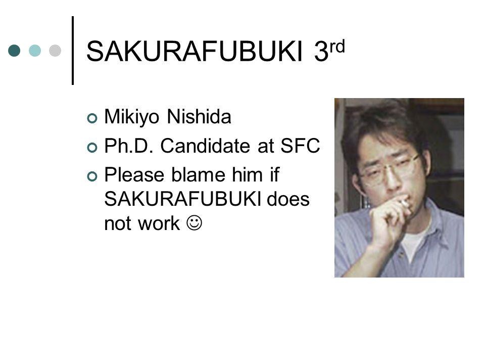 SAKURAFUBUKI 3 rd Mikiyo Nishida Ph.D.