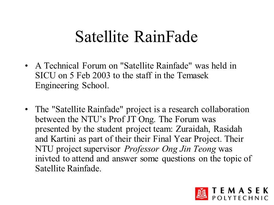 Satellite RainFade A Technical Forum on