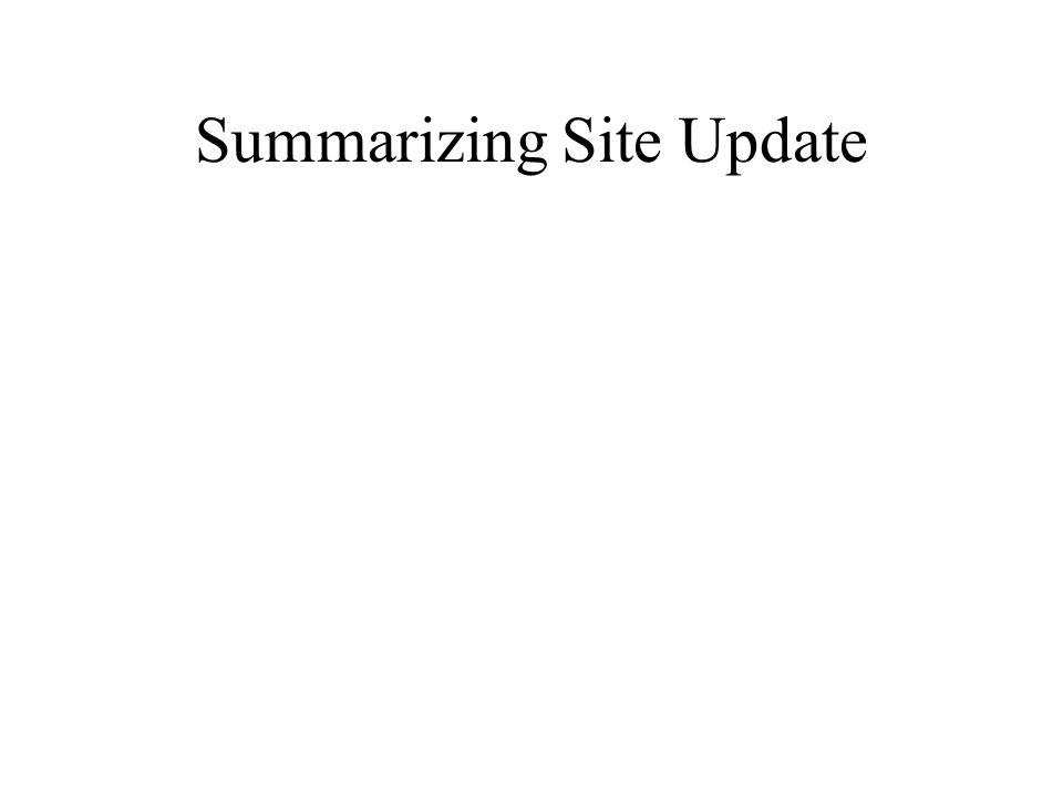 Summarizing Site Update