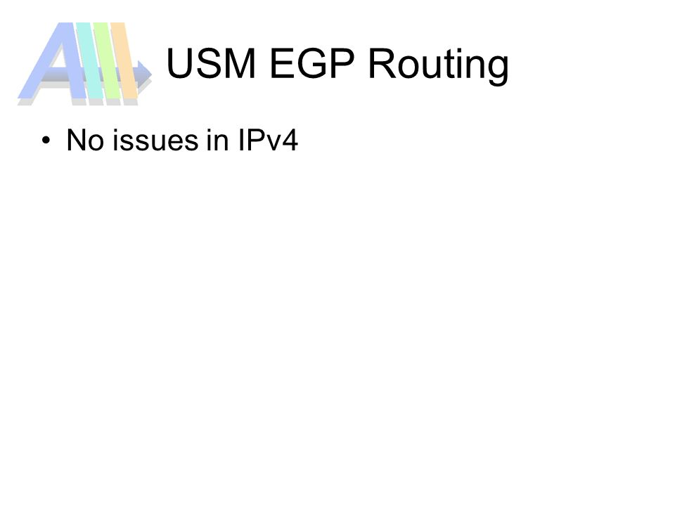 USM EGP Routing No issues in IPv4