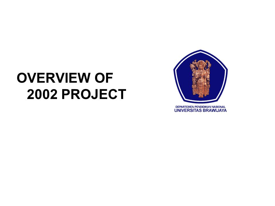 OVERVIEW OF 2002 PROJECT