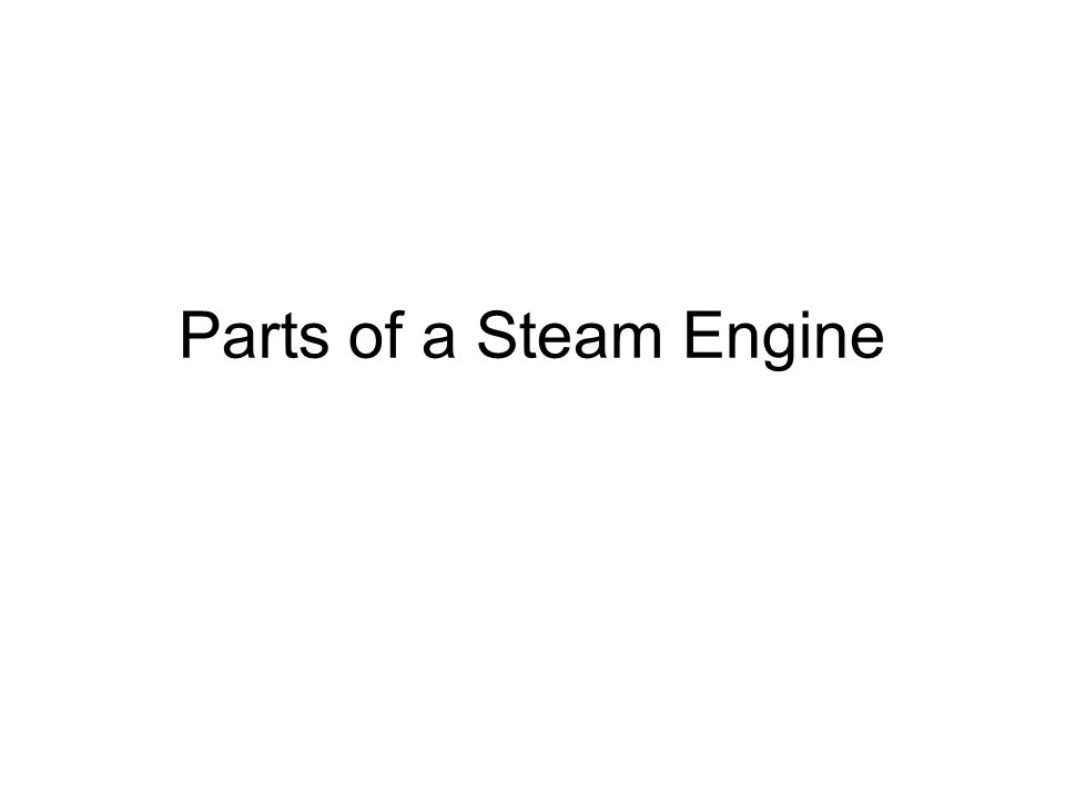 Parts of a Steam Engine