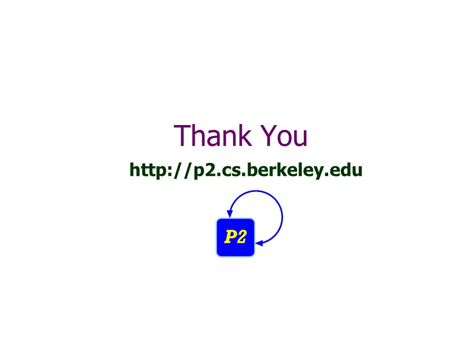 Thank You http://p2.cs.berkeley.edu