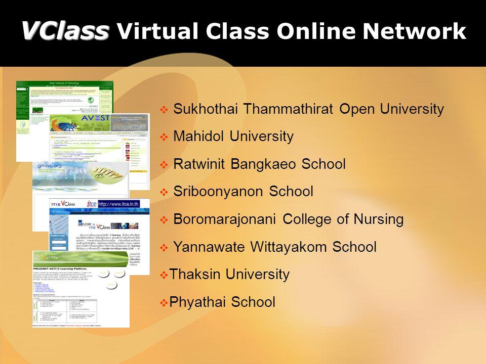 Sukhothai Thammathirat Open University Mahidol University Ratwinit Bangkaeo School Sriboonyanon School Boromarajonani College of Nursing Yannawate Wit