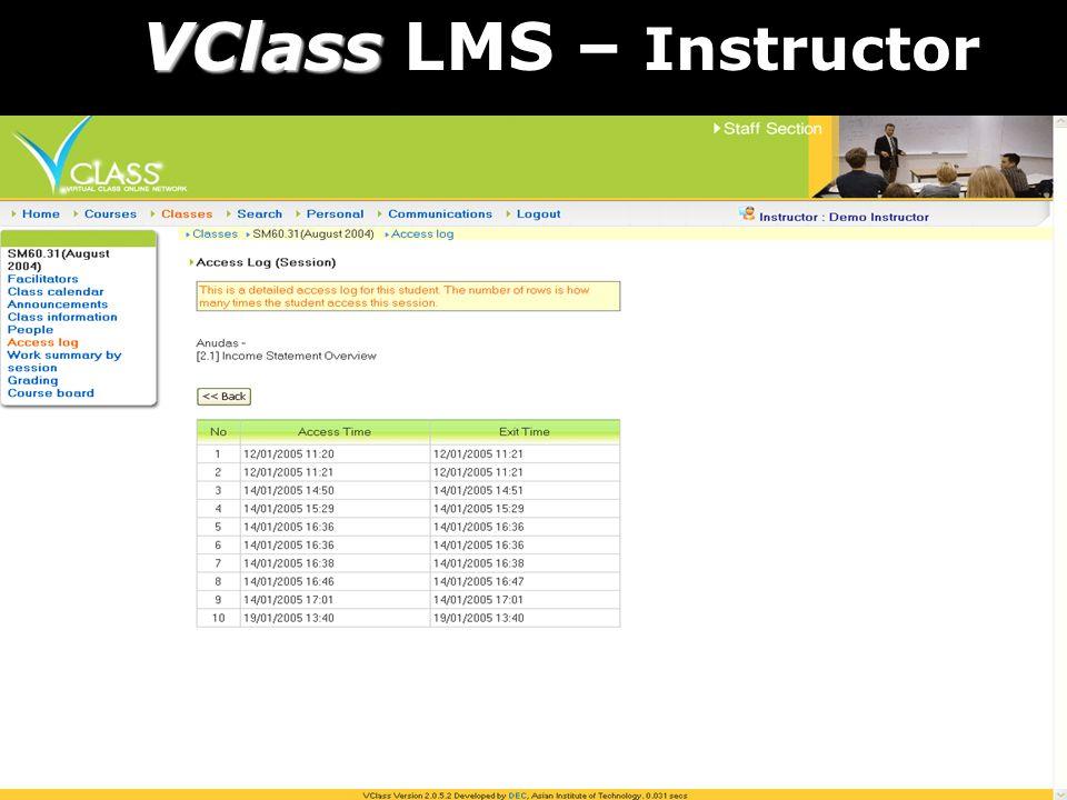 VClass VClass LMS – Instructor