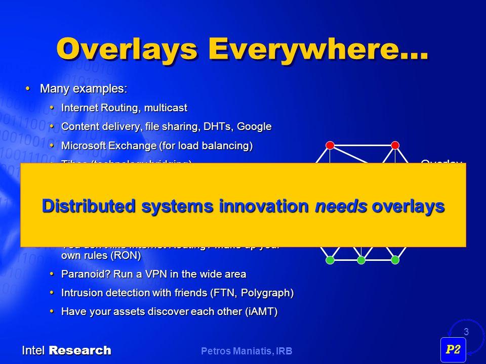 Petros Maniatis, IRB Intel Research 24 A Bit of Chord